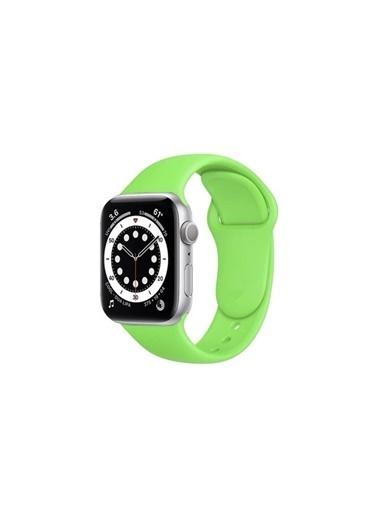 Apple Apple Watch Sport Band Yeşil Silikon Saat Kordonu 38-40 Mm Renkli